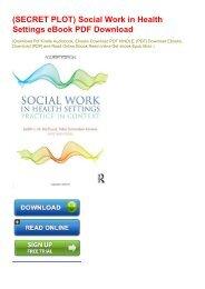 (SECRET PLOT) Social Work in Health Settings eBook PDF Download