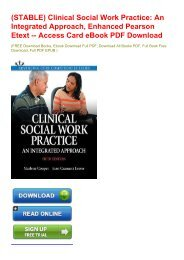(STABLE) Clinical Social Work Practice: An Integrated Approach, Enhanced Pearson Etext -- Access Card eBook PDF Download