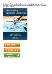 (GRATEFUL) Understanding Healthcare Economics: Managing Your Career in an Evolving Healthcare System, Second Edition eBook PDF Download