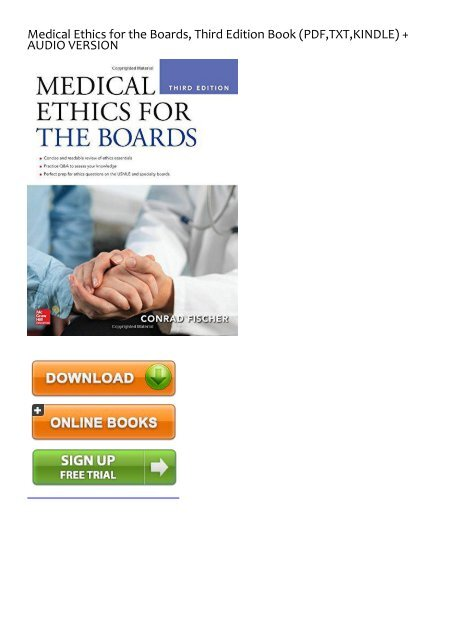 Medical Ethics Book Pdf