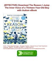 (EFFECTIVE) Download The Reason I Jump: The Inner Voice of a Thirteen-Year-Old Boy with Autism eBook