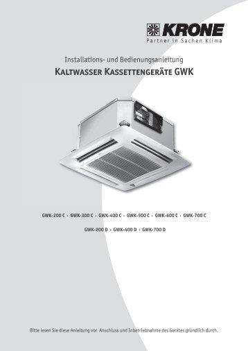 Kaltwasser Kassettengeräte GWK - KRONE Kälte & Klima GmbH