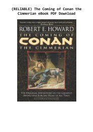 (RELIABLE) The Coming of Conan the Cimmerian eBook PDF Download