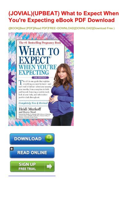 What To Expect When Youre Expecting Book Pdf