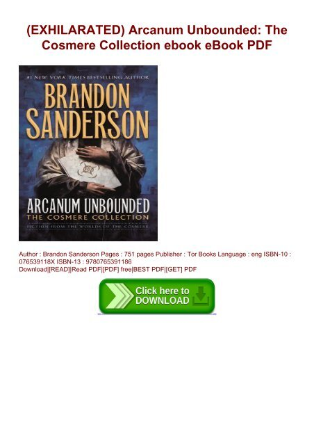EXHILARATED) Arcanum Unbounded: The Cosmere Collection ebook