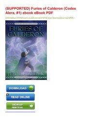 (SUPPORTED) Furies of Calderon (Codex Alera, #1) ebook eBook PDF