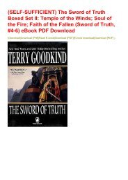 (SELF-SUFFICIENT) The Sword of Truth Boxed Set II: Temple of the Winds; Soul of the Fire; Faith of the Fallen (Sword of Truth, #4-6) eBook PDF Download