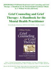 Read book Grief Counseling and Grief Therapy A Handbook for the Mental Health Practitioner EBook by J. William Worden