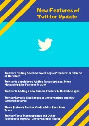 New Features of Twitter Update