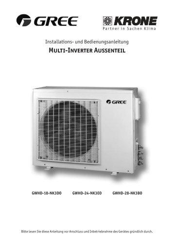 Multi-Inverter Außenteil - KRONE Kälte & Klima GmbH