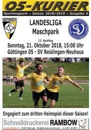Saison 18/19 - SpTg 13: Gö̈ttingen 05 - SV Reislingen-Neuhaus