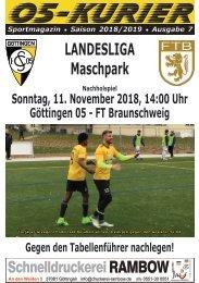 Saison 18/19 - SpTg 8 (Nachholspiel): Gö̈ttingen 05 - FT Braunschweig