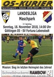 Saison 18/19 - SpTg 17: Gö̈ttingen 05 - SV Fortuna Lebenstedt
