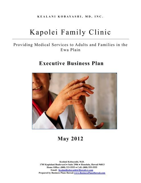 business plan medical practice