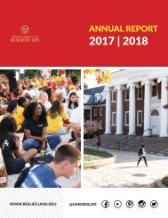 Resident Life Annual Report 2017-2018