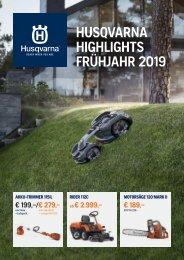 HUSQVARNA Frühjahrsbroschüre 2019