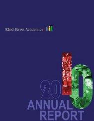annual report10 - 82nd Street Academics