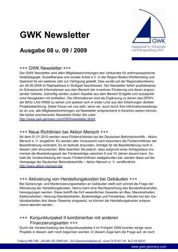 GWK Newsletter - GWK - Gesellschaft für Wirtschafts