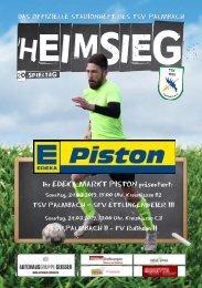 TSV Palmbach Saison 18-19 Heft 8