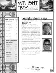 wright plussm news - Frank Lloyd Wright Preservation Trust