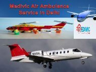 Medivic Aviation Air Ambulance Kolkata to Delhi