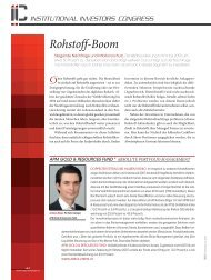 Rohstoff-Boom - Absolute Portfolio Management Gmbh