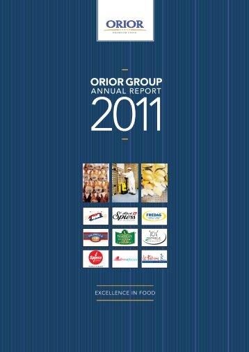 ORIOR GROUP - INVESTOR RELATIONS - Orior
