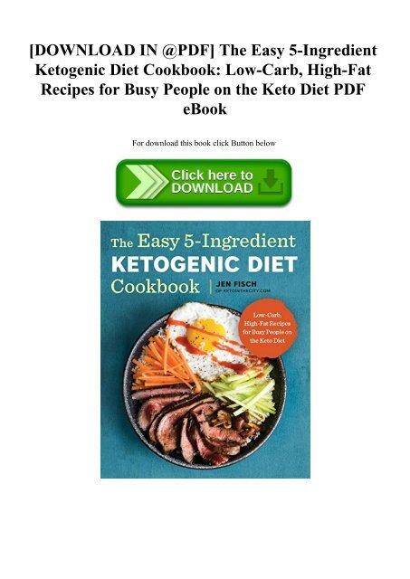 the easy 5 ingredient ketogenic diet cook bookpdf