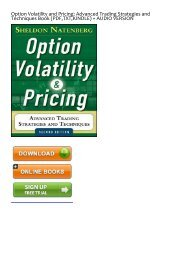 (SKYROCKET) Option Volatility and Pricing: Advanced Trading Strategies and Techniques eBook PDF Download