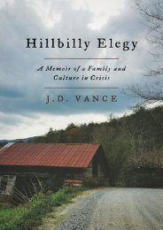 Read PDF Hillbilly Elegy: A Memoir of a Family and Culture in Crisis by J.D. Vance Download file