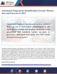 Automated Fingerprint Identification Systems Market Size and Forecast to 2023