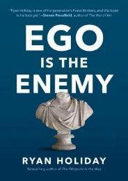 [PDF] free Ego Is the Enemy by Ryan Holiday TXT,PDF,EPUB