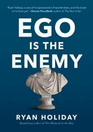 [PDF] free Ego Is the Enemy by Ryan Holiday TXT,PDF,EPUB