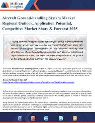 Aircraft Ground-handling System Market Growth Challenges, Key Vendors, Drivers, Technical Analysis and Trends by Forecast to 2025