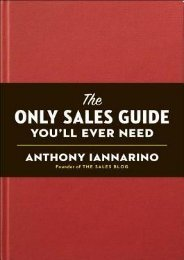 Download Free The Only Sales Guide You'll Ever Need by Anthony Iannarino Pre Order