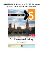 (GRACEFUL) 5 Steps to a 5: AP European History 2018 eBook PDF Download