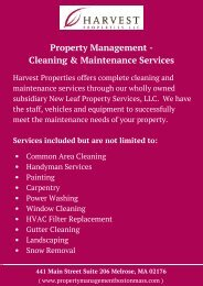Property Management – Cleansing & Maintenance Services