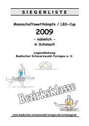 Siegerliste Einzelergebnisse - Badischer Schwarzwald Turngau