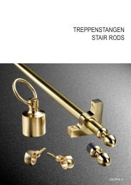 STAIR-RODS and FITTINGS in brass - Kuegele