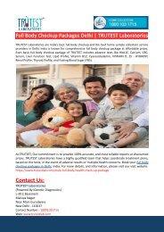 Full Body Checkup Packages Delhi-Nagpur-TRUTEST Laboratories