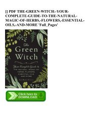 READ [EBOOK] The Green Witch Your Complete Guide to the