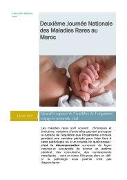 Deuxième journée des maladies rares - AMRM Alliance des maladies rares au Maroc