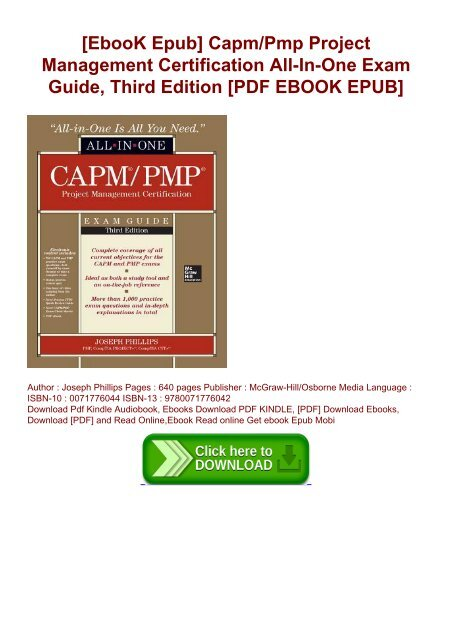 CAPM//PMP Project Management Certification All-In-One Exam Guide Third Edition