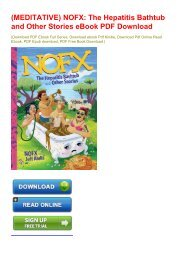 (MEDITATIVE) NOFX: The Hepatitis Bathtub and Other Stories eBook PDF Download