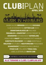 Clubplan Hamburg - April 2019