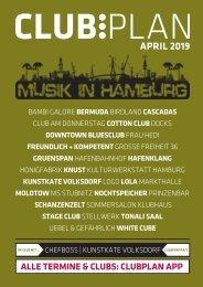 Clubplan Hamburg - April 2019