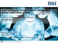 Sustained Release Excipients Market will expand at healthy CAGR of 6.8% in 2026