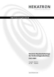 DIBt Zulassung Z-6.5-1891 Rauchschaltanlage für ... - Hekatron