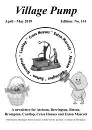 Berrington Village Pump Edition 141 Apr - May 2019