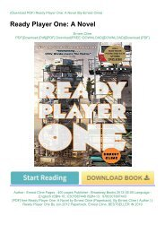 [PDF] free Ready Player One: A Novel by Ernest Cline (Paperback)